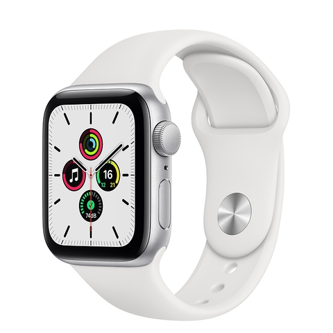 Apple Watch SE GPS Silver Aluminium Case with White Sport Band