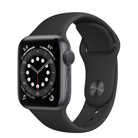 Apple Watch Series 6 GPS Space Gray Aluminium Case with Black Sport Band