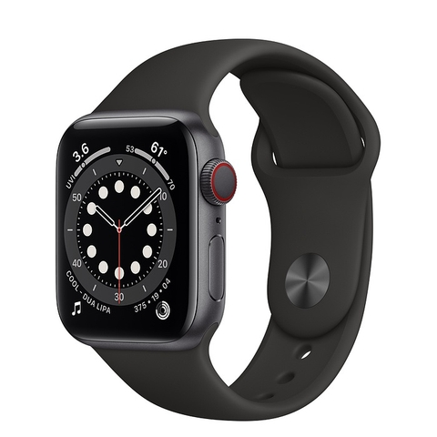 Apple Watch Series 6 GPS + Cellular Space Gray Aluminium Case with Black Sport Band