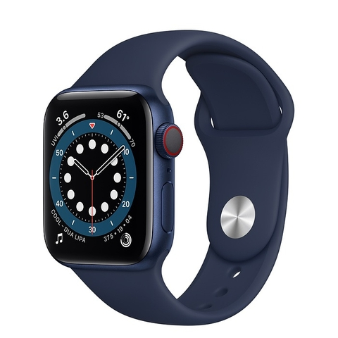 Apple Watch Series 6 GPS + Cellular Blue Aluminium Case with Deep Navy Sport Band