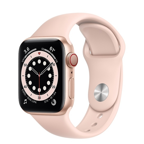 Apple Watch Series 6 GPS + Cellular Gold Aluminium Case with Pink Sand Sport Band