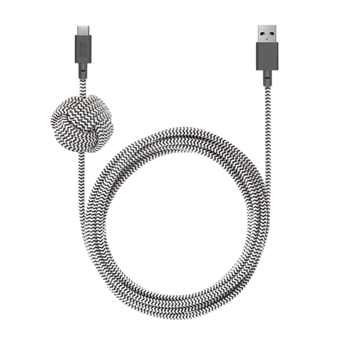 Cáp Native Union NIGHT CABLE USB-A to USB-C (3m)