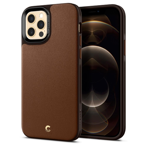 Ốp lưng Spigen Cyrill iPhone 12 & 12 Pro Leather Brick