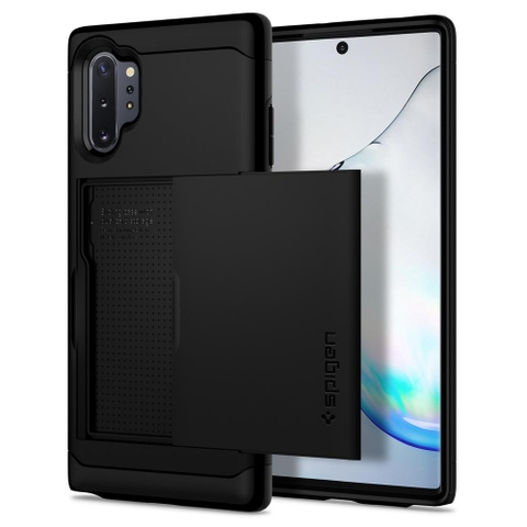 Ốp lưng SPIGEN Galaxy Note10 Plus Case Slim Armor CS - Black