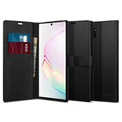 Ốp lưng SPIGEN Galaxy Note 10 Plus Case Wallet S Black