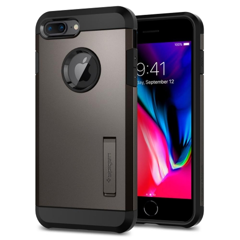Ốp lưng SPIGEN iPhone 8 Plus Case Tough Armor 2 - Gunmetal