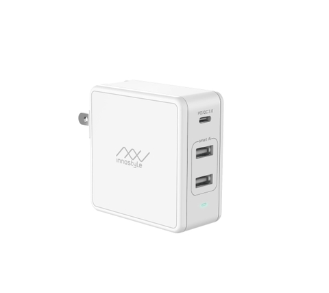 Sạc đa cổng Macbook INNOSTYLE GOMAX PLUS 73W (USB-C PD 61W + 2 USB A SMART AI)