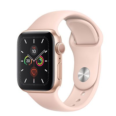Apple Watch Series 5 40mm Gold Aluminium Case with Pink Sand Sport Band (GPS) (VN/A)