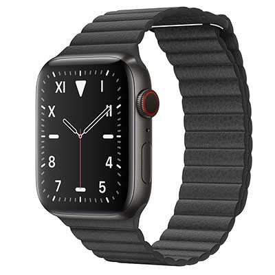 Apple Watch Edition Series 5 44mm Space Black Titanium Case with Leather Loop (GPS+CELLULAR)