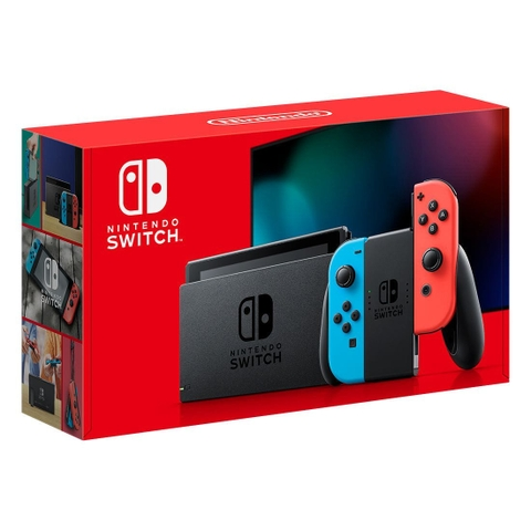 Máy chơi game Nintendo Switch with Neon Blue and Neon Red Joy‑Con New Model 99%