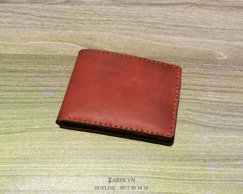 VN01L23 - Ví nam mini đơn giản handmade da thật cao cấp