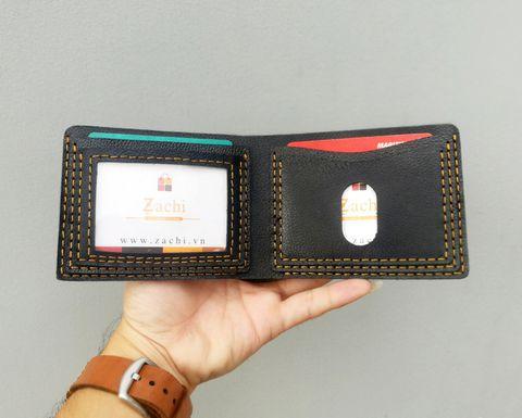 VN01H - Ví nam mini đơn giản handmade da thật cao cấp