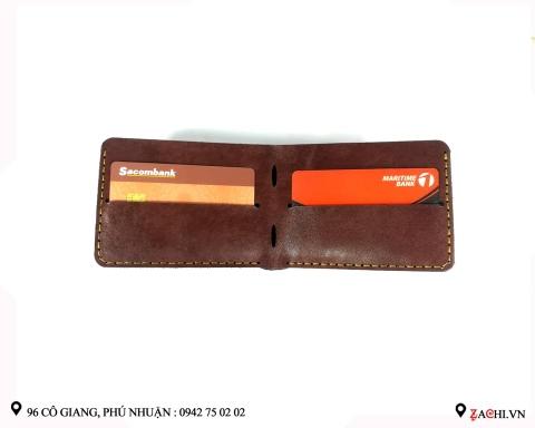 VN01I - Ví nam mini handmade da thật cao cấp