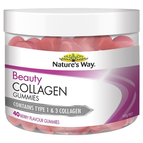 KẸO DẺO NATURE'S WAY BEAUTY COLLAGEN GUMMIES 40 VIÊN NHAI