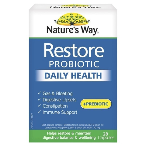 Men vi sinh Nature's Way Restore Daily Probiotic 28 viên