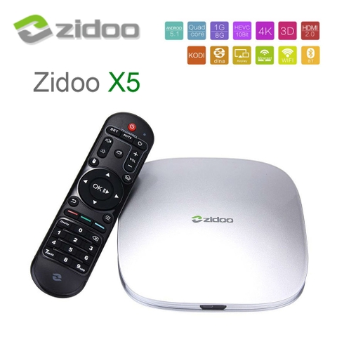 ZIDOO X5 dùng chip Amlogic S905 Android 5.1 Lollipop Quad Core