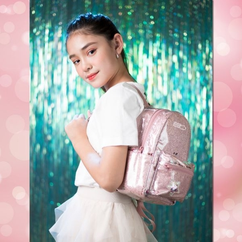 Balo thời trang Clever Hippo Sparkle Pink