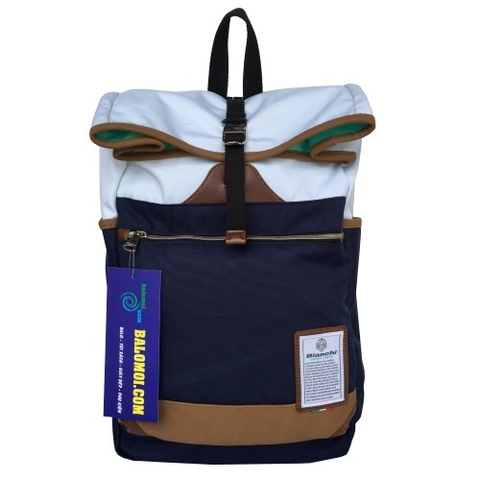 Bianchi Daypack Backpack Navy/White