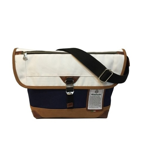Bianchi Messenger Bespoke Bag Navy/White