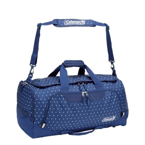 Coleman 2 Way Boston Bag 50L Navy Dot