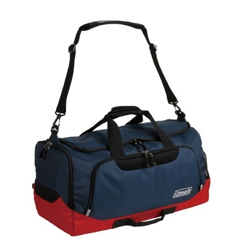 Coleman 2 Way Boston Bag 50L Navy/Red