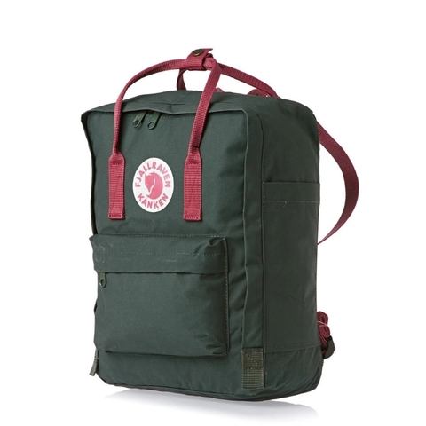 Balo Fjallraven Kanken Classic Forest Green/Ox Red