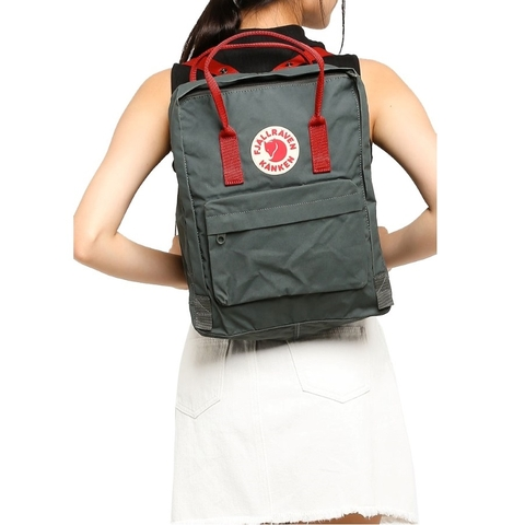 Balo Fjallraven Kanken Forest Green/Ox Red