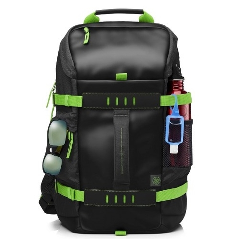 HP 15.6 Inch Odyssey Backpack Black/Green