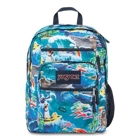 Jansport Big Student Backpack Multi Wet Sloth