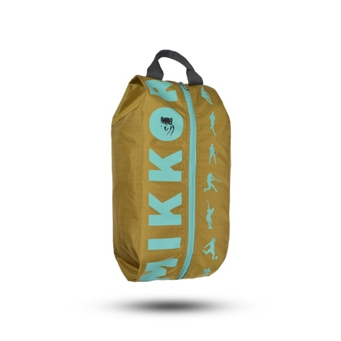 Mikkor The Adler Shoe Bag Mustard/Teal