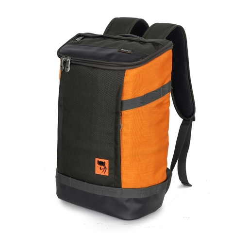 Mikkor The Irvin Backpack Charcoal/Orange