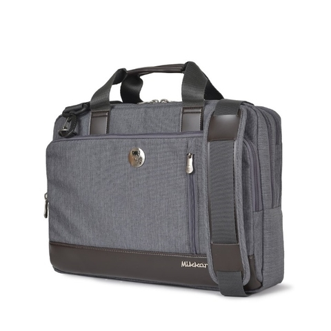 Mikkor The Ralph Briefcase Dark Mouse Grey