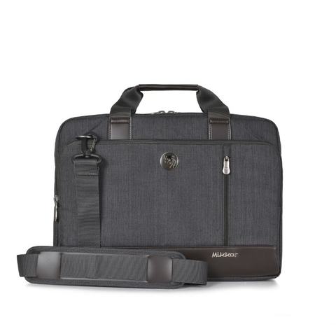 Mikkor The Ralph Briefcase Graphite