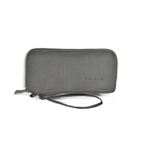 Mikkor Wallet The Ezra Dark Mouse Grey