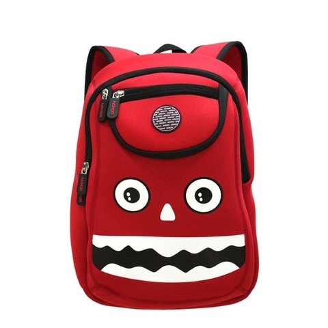 Balo cho bé Nohoo Monster NH006 Red