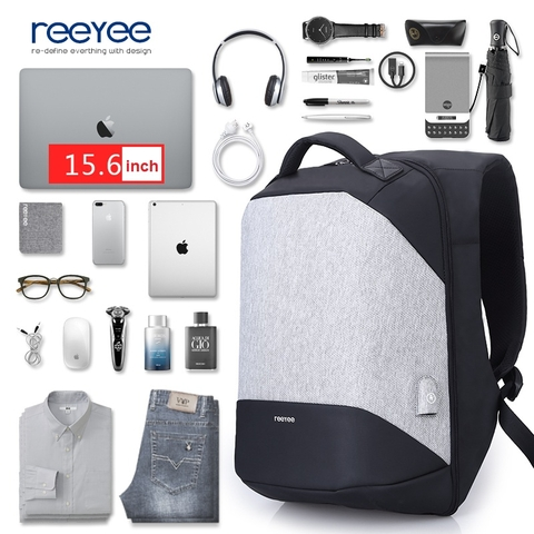 Balo Laptop Reeyee RY1004 Black/Grey