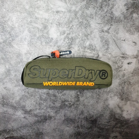 Superdry Academic Pencil Case Racing Green Marl