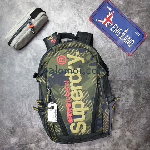 Superdry Camo Logo Tarp Backpack Green