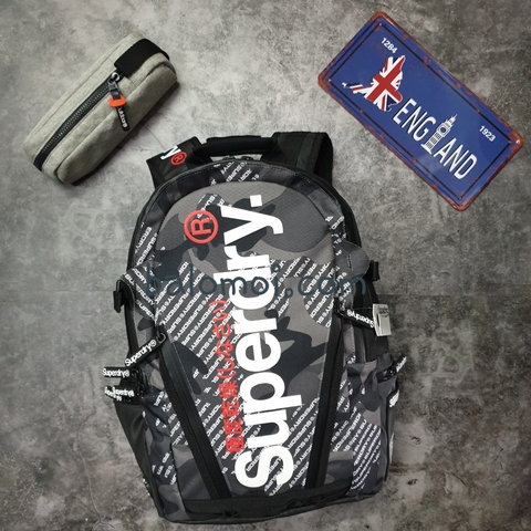 Superdry Camo Logo Tarp Backpack Grey