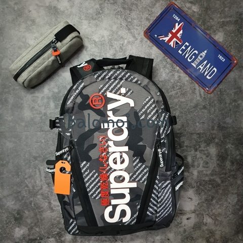 Superdry Camo Tarp Backpack Grey