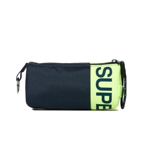 Superdry Kewer Two Zip Pencil Case Navy/Neon