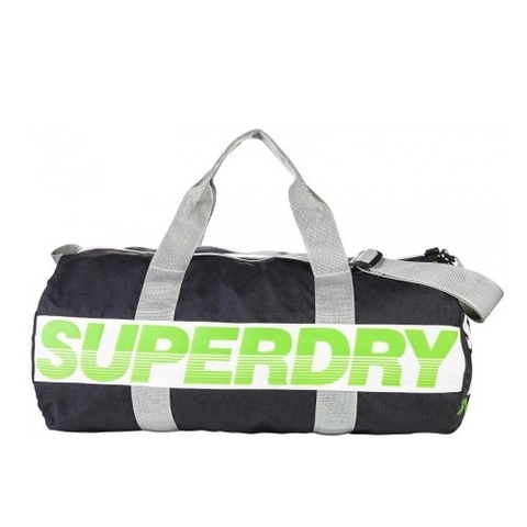 Superdry Montana Barrel Bag Black/Green