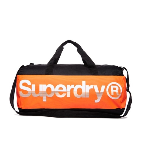 Superdry Montana Barrel Bag Black/Orange