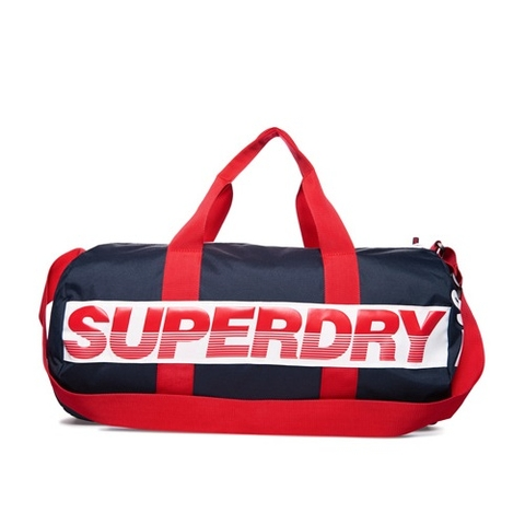 Superdry Montana Barrel Bag Navy/Red