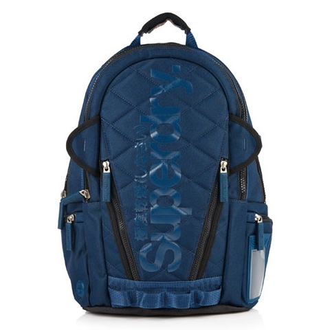 Superdry Quilted Tarp Backpack Navy