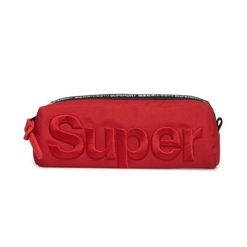 Superdry Satin Stitch Pencil Case Red