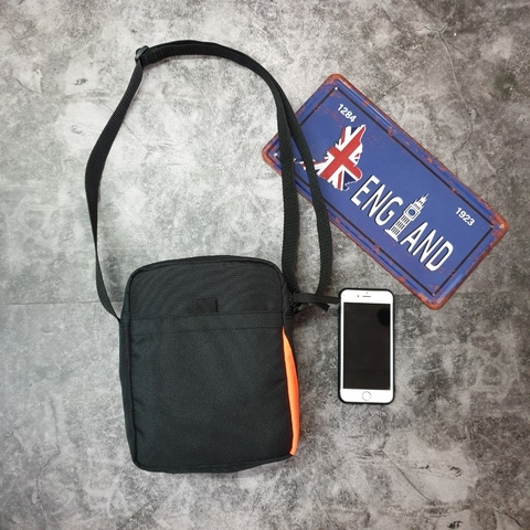 Superdry Shoulder Bags Black/Orange