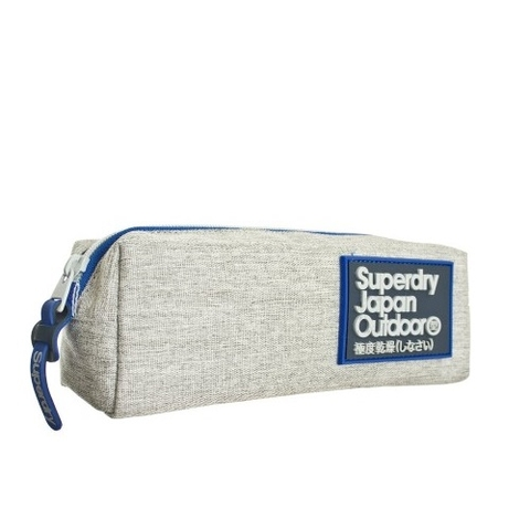 Superdry Trinity Pencil Case Light Grey Marl