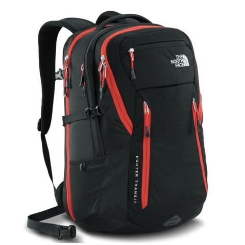 The North Face Router Transit Backpack Black/Red