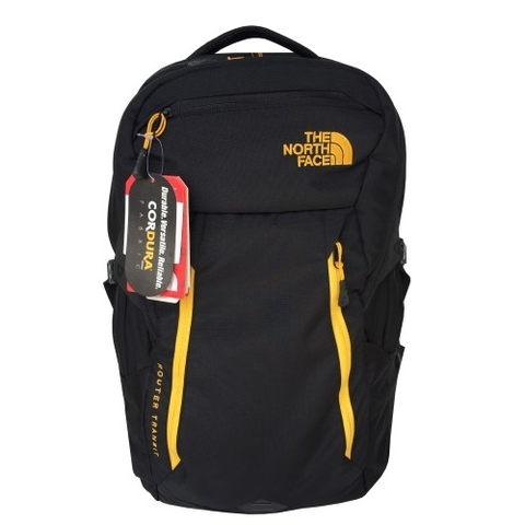 The North Face Router Transit Backpack Black/Yellow